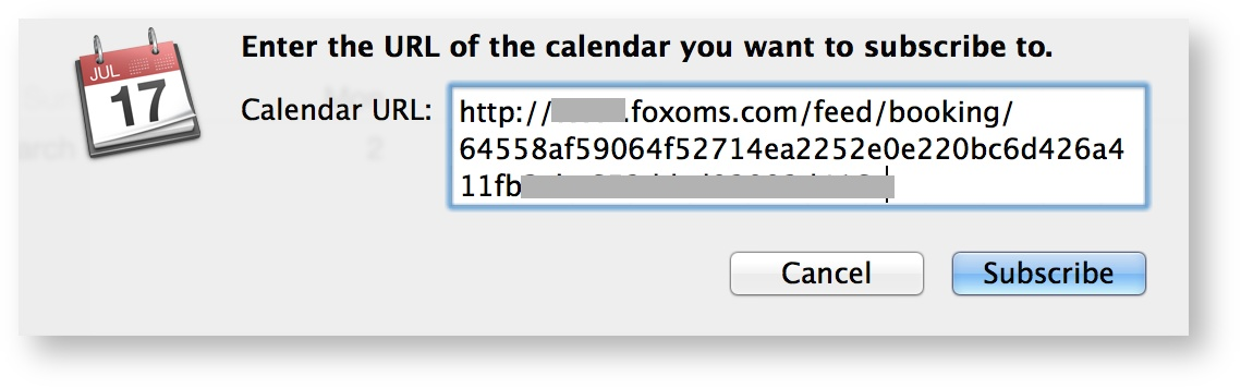Apple Calendar field