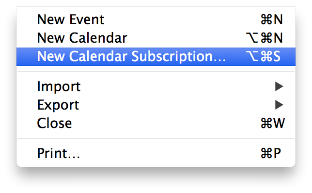 New Apple Calendar Feed