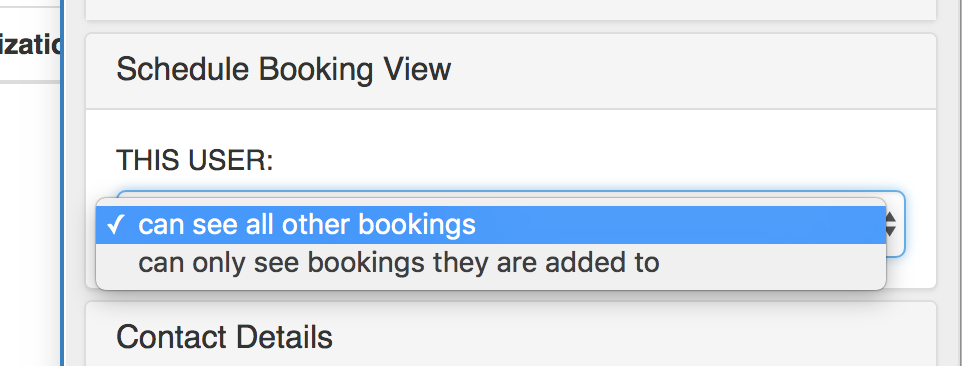 Schedule Booking View